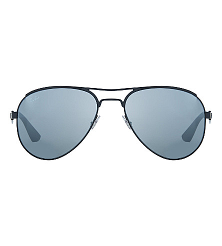 RAY-BAN RB3523 aviator sunglasses (Matte+black