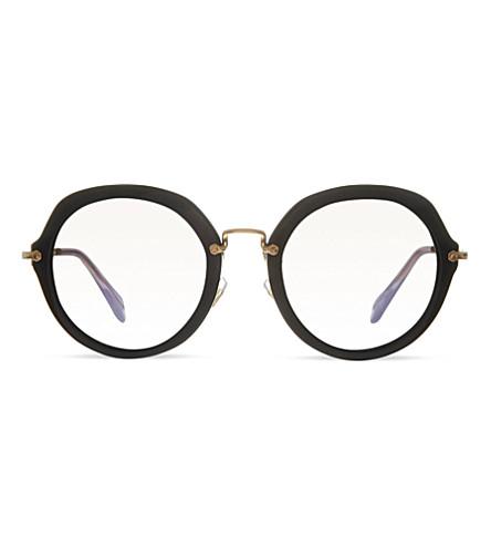 MIU MIU MU05Q round sunglasses (Black