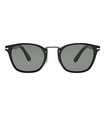 PERSOL PO3110S Typewriter Edition round-frame sunglasses (Black