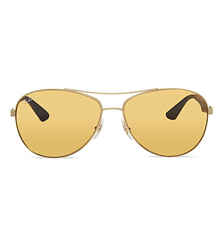 RAY-BAN RB3526 aviator sunglasses (112/83gold