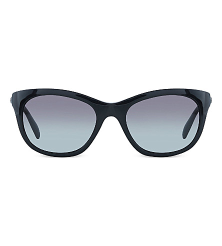 RAY-BAN RB4216 black square sunglasses (Black