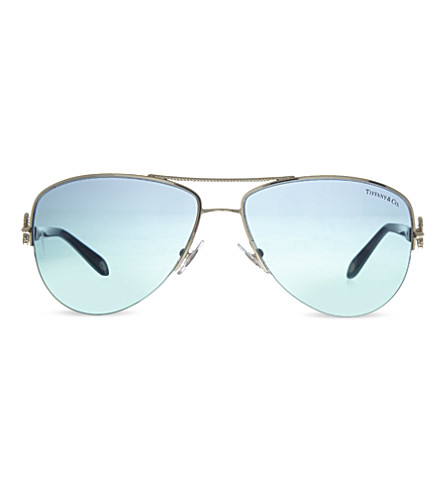 TIFFANY & CO Tf3046 pilot sunglasses (Pale+gold