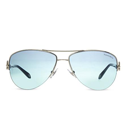 TIFFANY & CO Tf3046 pilot sunglasses (Pale+gold