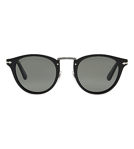 PERSOL PO3108S Typewriter Edition round-frame sunglasses (Black