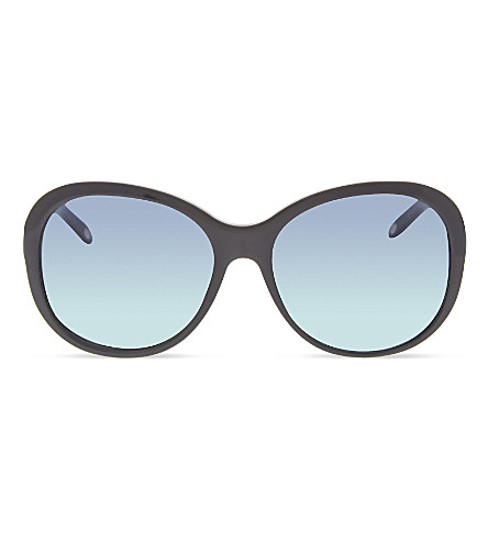 TIFFANY & CO TF4104 round sunglasses (Black