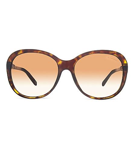 TIFFANY & CO Tf4104 Round sunglasses (Dark+havana