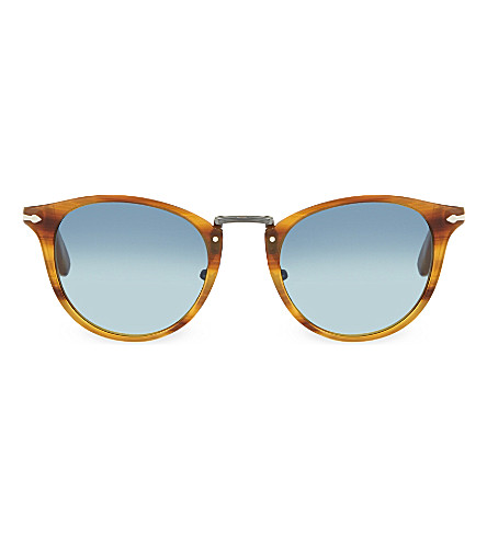 PERSOL Round sunglasses (Striped+brown