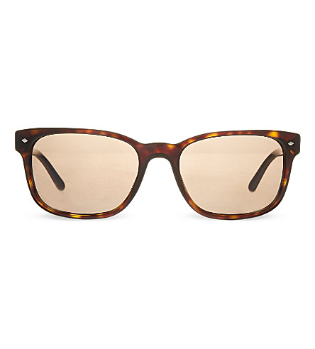 EMPORIO ARMANI AR8049 rectangular sunglasses (502653brown