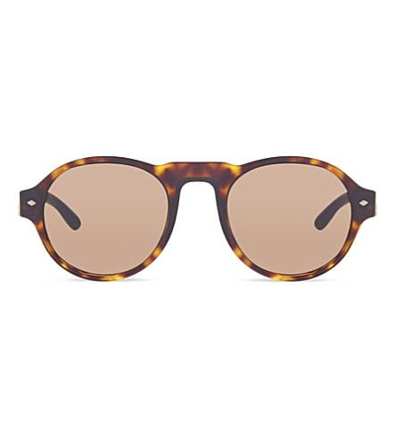 EMPORIO ARMANI AR8053 Havana round sunglasses (502653brown