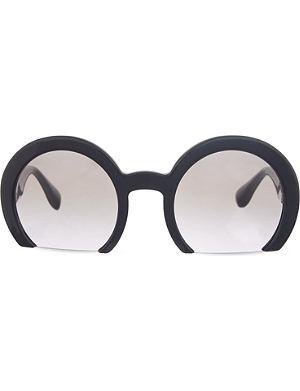 MIU MIU Smu07q cut-off sunglasses