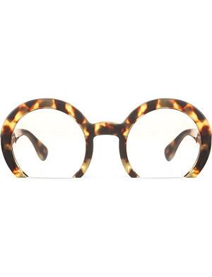 MIU MIU MU07Q round half-frame sunglasses