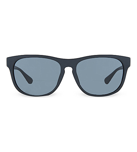 PRADA SPR14R matte square sunglasses (1bo1a1black