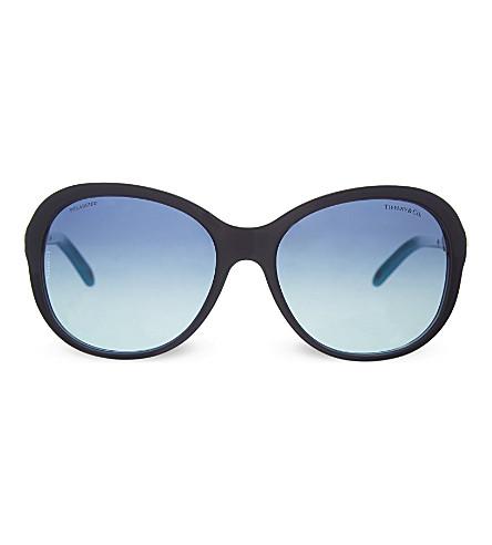 TIFFANY & CO TF4104 round sunglasses (Pearl+sapphire