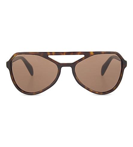 PRADA SPR22R havana aviator sunglasses (Havana