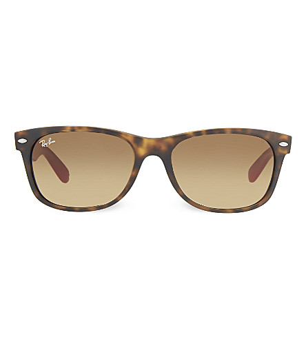 RAY-BAN RB2132 tortoise shell square sunglasses (Matte+havana