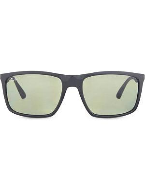 RAY-BAN RB4228 polarised rectangle sunglasses