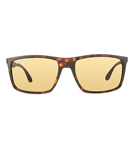 RAY-BAN RB4228 rectangular sunglasses (Light+havana