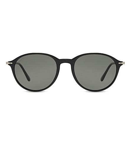 PERSOL PO3125S Reflex Edition round-frame sunglasses (Black