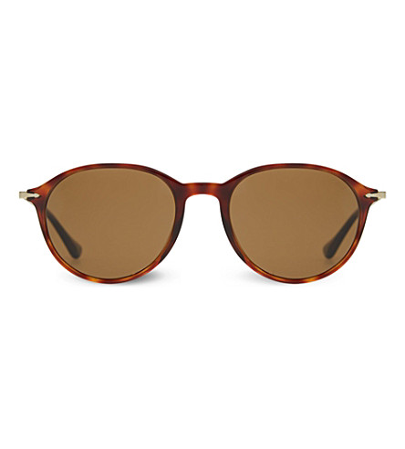 PERSOL 3125 round polarised sunglasses (Havana