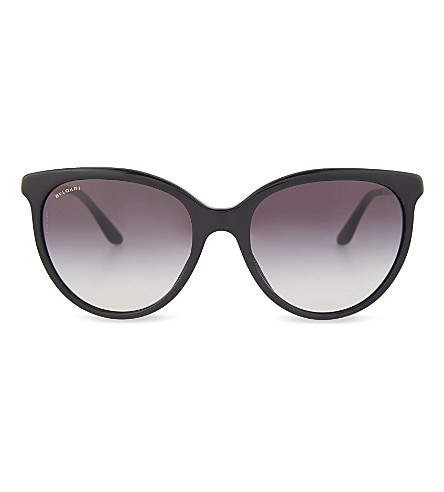 BVLGARI Round sunglasses (Black