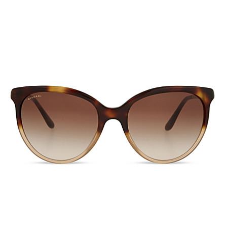 BVLGARI BV8161 Round-frame sunglasses (Havana+gradient