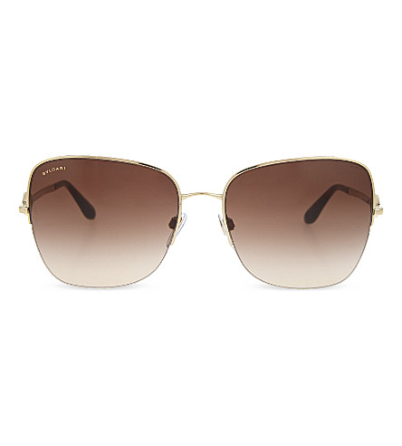 BVLGARI Diva square sunglasses (Pale+gold