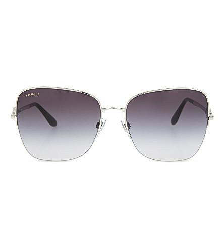 BVLGARI 6077B square sunglasses (Silver