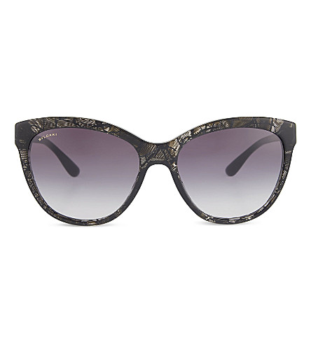 BVLGARI 8161 Cat eye sunglasses (Dark+havana