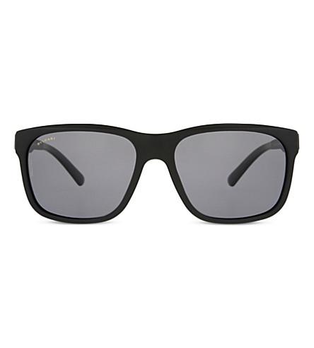 BVLGARI BV7024 square-frame sunglasses (Black+sand