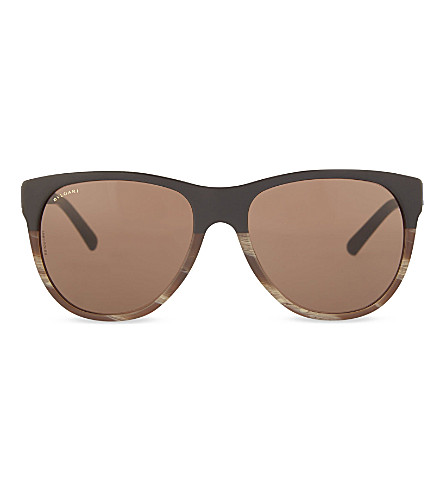 BVLGARI Square sunglasses (Sand+brown