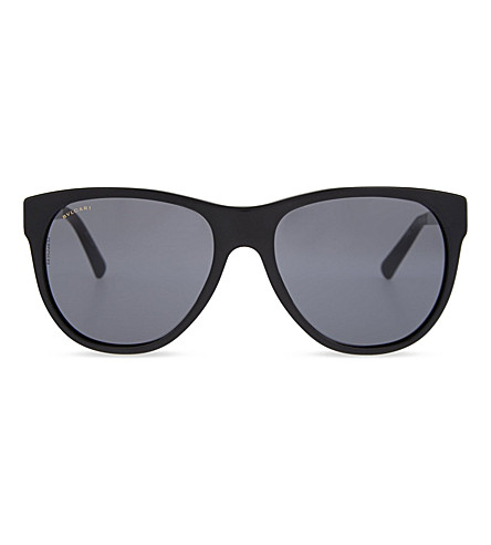 BVLGARI Tinted square sunglasses (Black+sand