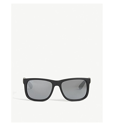 RAY-BAN RB4165 Justin rectangular sunglasses (622/6gblack