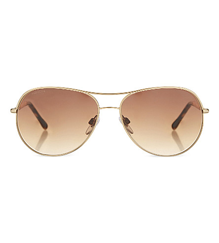 BURBERRY B3082 twisted aviator sunglasses (Gold
