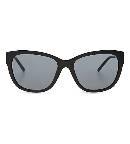 BURBERRY B4203 textured arm cat-eye sunglasses (Black