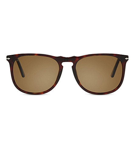 PERSOL PO3113S Vintage Celebration Square-frame sunglasses (Havana