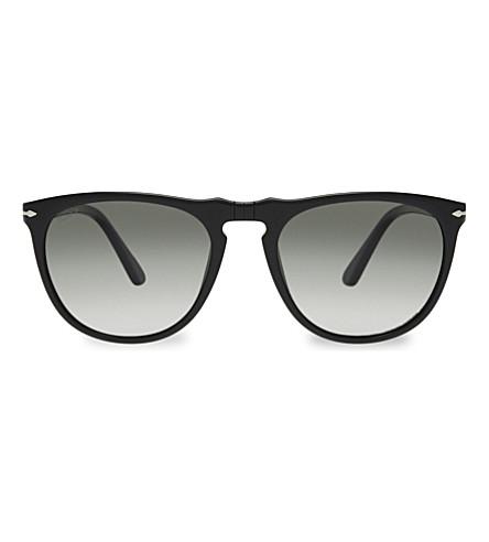 PERSOL 3114-S collezione suprema aviator sunglasses (Black
