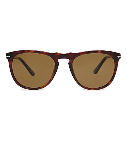 PERSOL PO3114S Vintage Celebration round-frame sunglasses (Havana