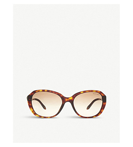 TIFFANY & CO Irregular sunglasses (Havana