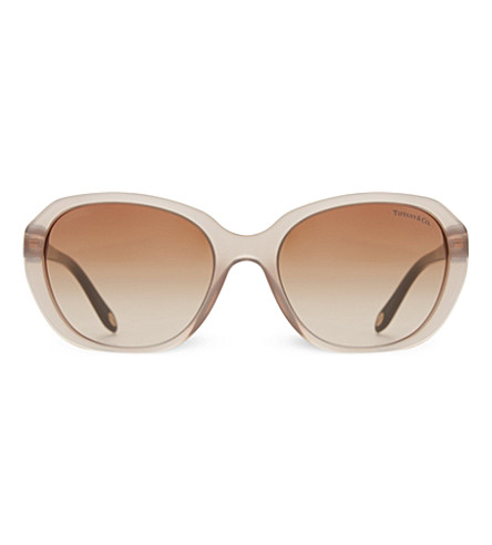 TIFFANY & CO TF4108 round sunglasses (Sand