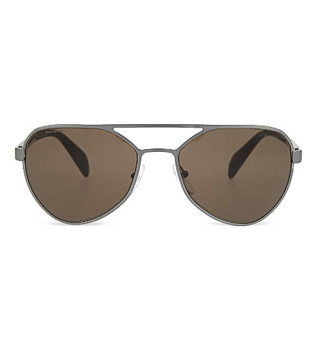 PRADA PR55R aviator sunglasses (Brushed+gunmetal