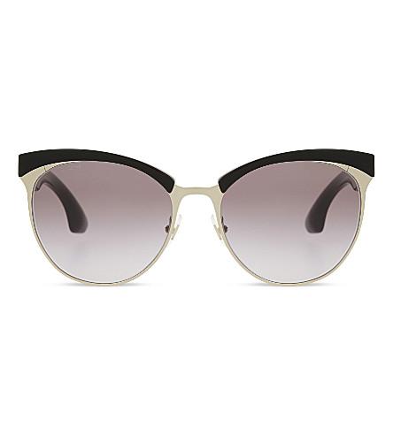 MIU MIU MU54QS round sunglasses (Pale+gold