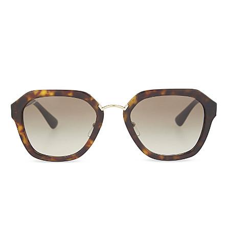 PRADA Havana square sunglasses (Havana