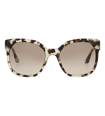 PRADA PR10R tortoiseshell square sunglasses (Opal+brown