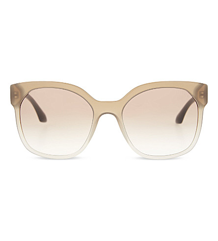 PRADA Gradient irregular sunglasses (Grey+gradient