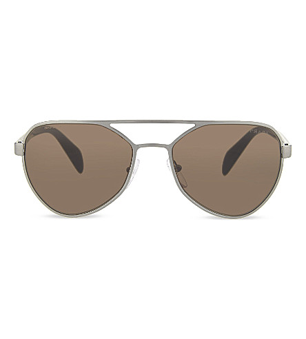 PRADA Rectangle sunglasses (Brushed+gunmetal