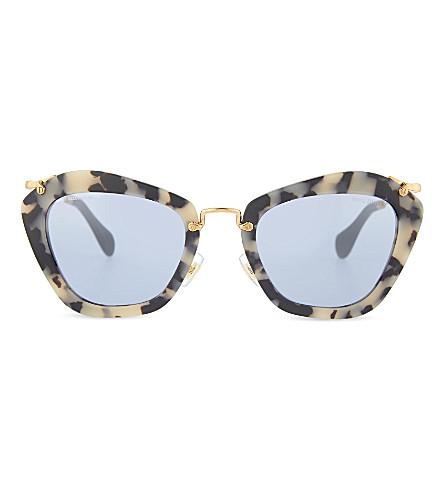 MIU MIU SMU 10N Havana cat eye sunglasses (Sand+havana