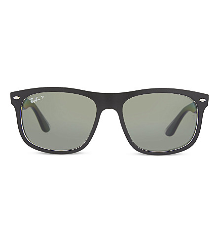 RAY-BAN Rb4226 matte rectangle sunglasses (Matte+black