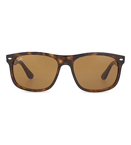 RAY-BAN Rb4226 tortoise shell rectangle sunglasses (Shiny+brown