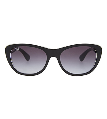 RAY-BAN Tinted cat-eye sunglasses (Black