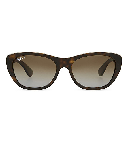 RAY-BAN RB4227 square havana sunglasses (Light havana